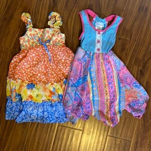 Two colorful summer dresses
